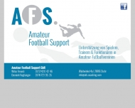 Website AFS amateur football support