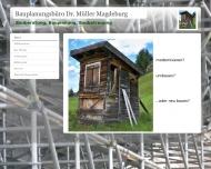 Website Bauplanungsbüro Dr. Müller
