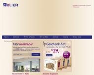 Bild Webseite Klier Karlsruhe