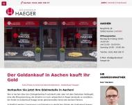 Bild Webseite Goldankauf Haeger Aachen Aachen