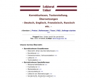 Bild Webseite Lektorat Unker Osnabrück
