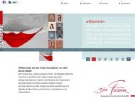 Website Die Feder Konzeption vor dem Druck