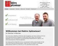 Bild Webseite Elektro Spitzwieser München