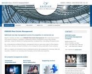 Bild Webseite KRIEGER Frankfurt