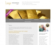 Website Goldankauf Lange