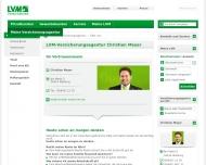 Bild Webseite LVM-Versicherungsagentur Christian Meyer & Team Blomberg
