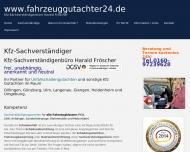 Website Kfz-Sachvertständigenbüro Harald Fröscher