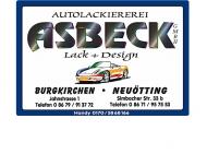 Bild Webseite Autolackiererei Asbeck Burgkirchen an der Alz