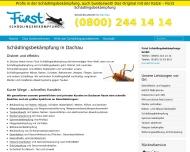 Bild Webseite Fürst Schädlingsbekämpfung Dachau