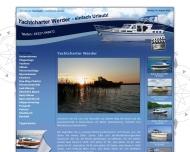 Website Yachtcharter Werder
