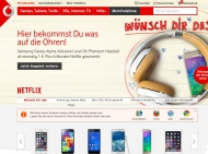 Website Vodafone - Shop Tegel