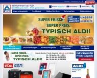Bild Webseite Aldi Nord Potsdam