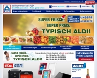 Bild Webseite Aldi Nord Itzehoe