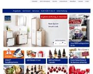 Bild Webseite Aldi Süd Frankfurt