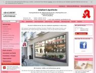 Bild Webseite Adalbert-Apotheke München