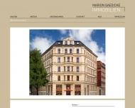 Bild Webseite Marion Gaedicke Immobilien München