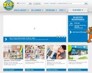 Bild Webseite TEDi -  Hamburg