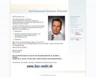 Bild Webseite Rechtsanwalt Bertram Petzoldt Dresden