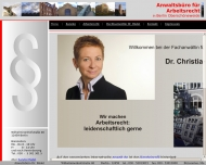 Bild Webseite Rechtsanwältin Dr. Christiane Rädel Berlin