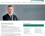 Bild Webseite Rechtsanwalt Ralf Wöstmann Osnabrück