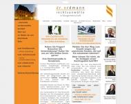 Bild Webseite Rechtsanwaltskanzlei Dr. Erdmann Osnabrück
