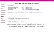 Bild Webseite Rechtsanwältin Carolin Richter Dresden