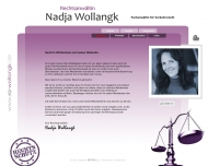 Bild Webseite Rechtsanwältin Nadja Wollangk Berlin