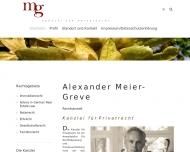 Bild Webseite Kanzlei für Privatrecht Berlin