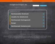 Bild Webseite Burger, Thätner & Kollegen Berlin