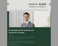Bild Webseite Rechtsanwalt Andrej Klein Dresden