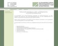 Bild Webseite Rechtsanwalt Alexander Funck Berlin