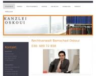 Bild Webseite Rechtsanwalt Bamschad Oskoui Berlin
