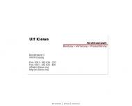 Bild Webseite Rechtsanwalt Ulf Klewe Leipzig