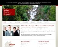 Bild Webseite Weber Preuß Lehmann Rechtsanwaltskanzlei Berlin