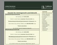 Bild Webseite Rechtsanwalt Dr. Ulrich Zacharias Berlin