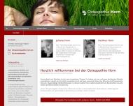 Bild Webseite Praxis für Osteopathische Medizin Horn Hamburg