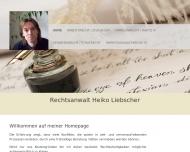Bild Webseite Rechtsanwalt Heiko Liebscher Hannover