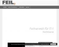 Bild Webseite Rechtsanwalt Thomas Feil Hannover