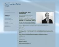 Bild Webseite Rechtsanwalt Robin Wulff Hamburg