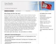 Bild Webseite Rechtsanwalt Sven Naucke Hamburg