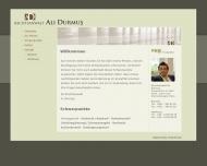 Bild Webseite Rechtsanwalt Ali Durmu? Hamburg