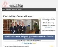 Bild Webseite Rechtsanwälte Luppe, Axmann, Schulz Hamburg
