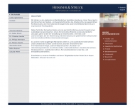 Bild Webseite Rechtsanwälte Heissner & Struck Hamburg