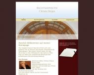 Bild Webseite Rechtsanwältin Christa Detjen Hamburg