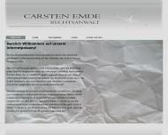 Bild Webseite Rechtsanwalt Carsten Emde Bremen