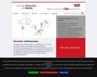 Bild Webseite Menschen und Rechte Hamburg