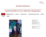 Bild Webseite Rechtsanwältin Ina D. Dallmann-Glagowsky Berlin