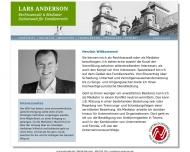 Bild Webseite Rechtsanwalt Lars Anderson Berlin