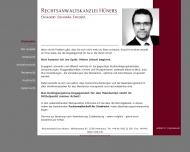 Bild Webseite Rechtsanwalt Sven Hüners Hamburg