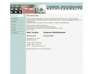 Bild Webseite Turnier Wolkenhauser Rechtsanwälte Hannover